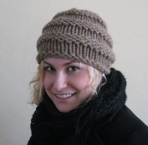 Quick & Easy Ribbed Hat by Laurie Kimmelstiel (55 yds)