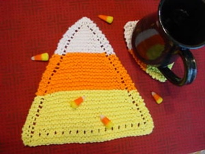 Candy Corn Dishcloth pattern by Linda Buntin