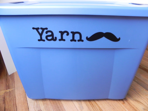 "Yarn ""Stache"" Vinyl Decal"