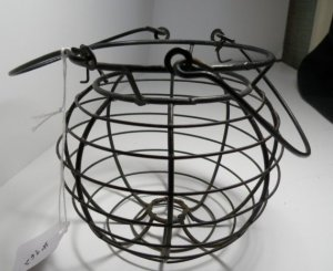 Vintage Wire Yarn Basket