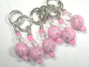 Silver Star Breast Cancer Support Stitch Holders  by CedarGroveFarms